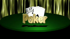 Poker Graphic With Royal Flush Stock Footage