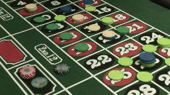 Roulette sweep chips Stock Footage
