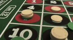 Roulette Table Flyover Stock Footage