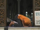 Stock Video Footage of Men pray at main mosque in Aceh, Indonesia