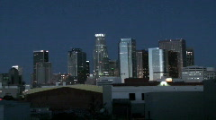 Time Lapse Sunrise Los Angeles Skyline HD - stock footage