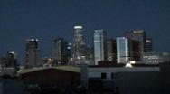 Stock Video Footage of Time Lapse Sunrise Los Angeles Skyline HD