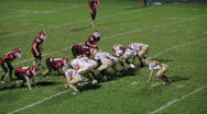 Football Quarterback Fumble Stock Footage