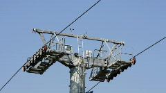 Barcelona teleferic cable car city transport urban Stock Footage