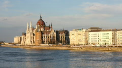 Budapest river europe hungary city urban  Stock Footage