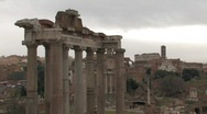 Giant Pillars at Roman Forum Stock Footage