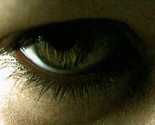 Eyes TV Horror Stock Footage