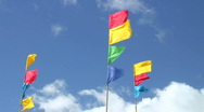 Stock Video Footage of HD: Colorful flags