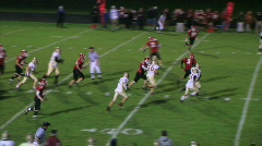 Football Halfback Run Stock Footage
