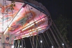 Carousel at fun fair Stock Footage