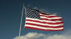 HDV: American Flag - stock footage