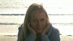 Beautiful Woman Outside Stock Footage