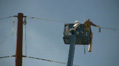 HDV: Electrical Workers - stock footage