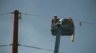 HDV: Electrical Workers Stock Footage