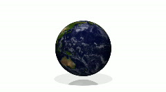 Planet Earth (white background, centered) Stock Footage