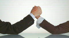 Armwrestling between business people Stock Footage