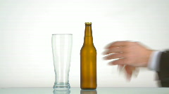 pouring beer - stock footage