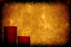 Grunge morbid background with candles Stock Footage