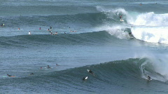 Surfing multiple waves Maui Hawaii HD Stock Footage