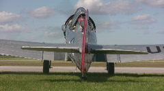 WWII era airplane Stock Footage