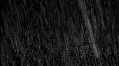 Heavy Rain With Rain Drops Composite Stock Footage