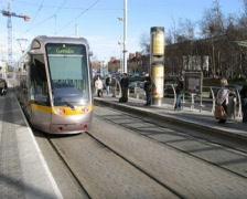 Luas Tram Stock Footage
