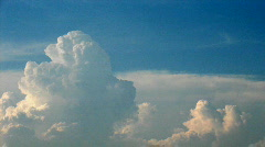 Time lapse of storm clouds - stock footage