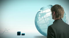 Global Business communicatoins Stock Footage
