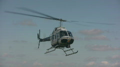 Landing police helicopter Stock Footage