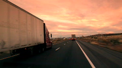 Trucks on Highway / Arizona Stock Footage