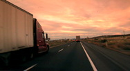 Stock Video Footage of Trucks on Highway / Arizona