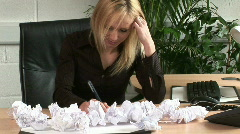 Frustrated Business Woman under Stree Stock Footage