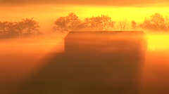Sunrise Barn Close Stock Footage