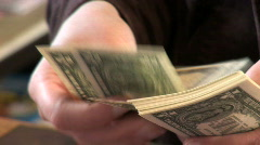Payday - counting Dollars Stock Footage