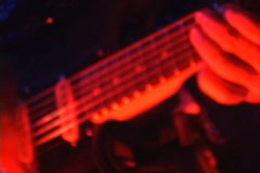electric guitar playing - stock footage