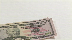 Businesswoman with Dollars Stock Footage