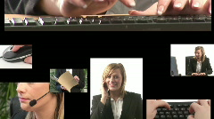 Business Montage Stock Footage
