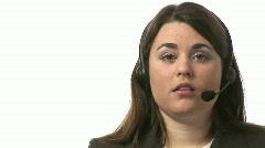 Busineswoman talking on headset Stock Footage