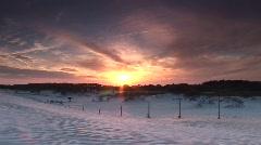 Assateague Island  MD - Beach Sunset Pan Stock Footage