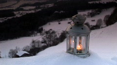 Candlelight in the snow - mystic Stock Footage