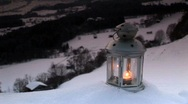 Stock Video Footage of Candlelight in the snow - mystic