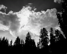 Clouds in the mystic sky Stock Footage