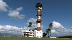 Ford Island WWII control tower HD Stock Footage