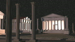 Roman or greek temples pan Stock Footage