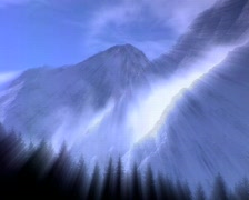 Mystic clouds in the mountains - stock footage