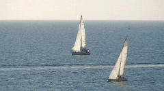 Sailboats in regatta Stock Footage