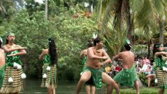 Hawaii PCC New Zealand boat war dance HD - stock footage