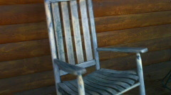 Vintage rocking chair - stock footage