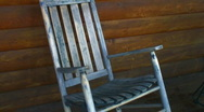 Stock Video Footage of Vintage rocking chair