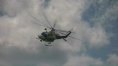 Airborne chopper - stock footage
